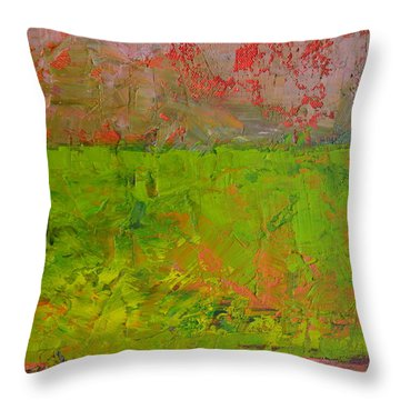 Rustic Roadside Series - Celery Flats Throw Pillow