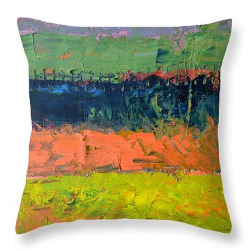 Rustic Roadside Series - Pond Throw Pillow