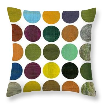 Rustic Rounds 75 Number Two Throw Pillow