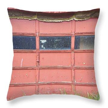 Rustic Rural Red Garage Door Throw Pillow by James BO  Insogna