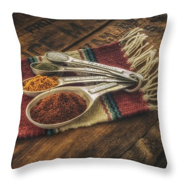 Rustic Spices Throw Pillow