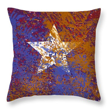 Rustic Star Throw Pillow