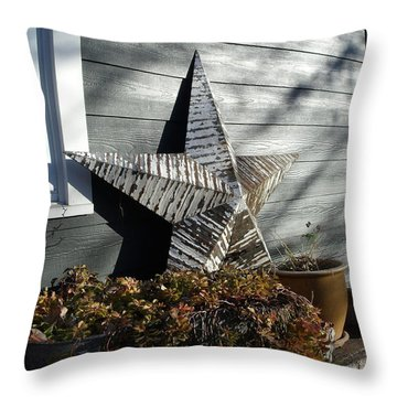 Throw Pillow featuring the photograph Rustic Star by Lyric Lucas