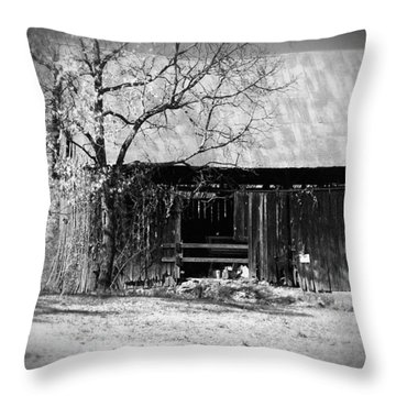 Rustic Tennessee Barn Throw Pillow by Phil Perkins
