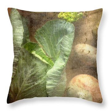 Rustic Vegetable Fruit Medley IIi Throw Pillow