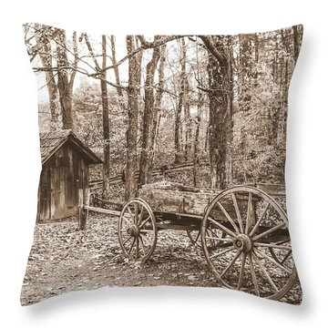 Rustic Wagon Throw Pillow