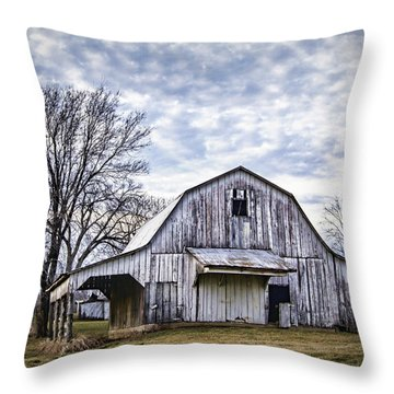 Rustic White Barn Throw Pillow