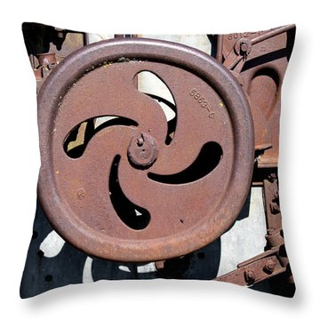 Throw Pillow featuring the photograph Rusting Gears by Rebecca Davis