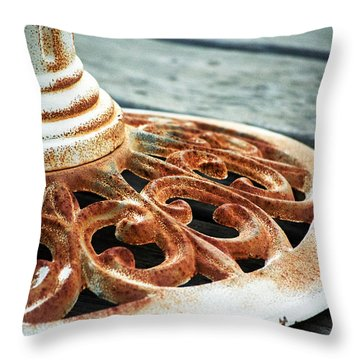 Rusting On The Deck Throw Pillow