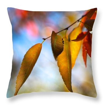 Rustling Leaves Throw Pillow