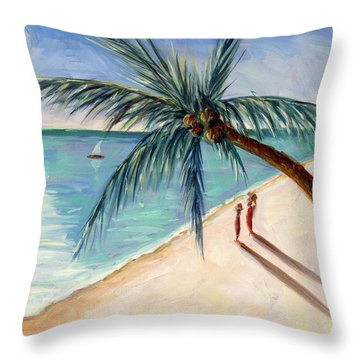 Rustling Palm Throw Pillow by Tilly Willis