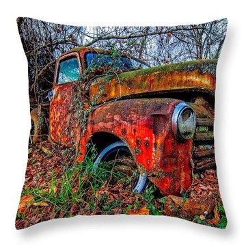 Rusty 1950 Chevrolet Throw Pillow
