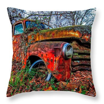 Rusty 1950 Chevrolet Throw Pillow
