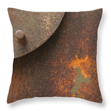 Rusty Abstraction Throw Pillow