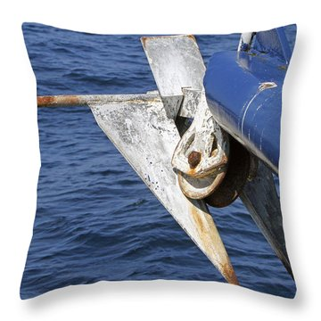 Rusty Anchor  Throw Pillow by Shoal Hollingsworth