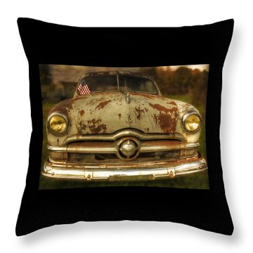 Rusty But Coming At Ya Throw Pillow