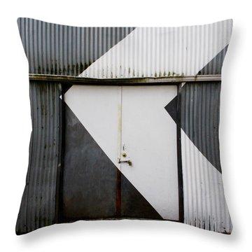 Rusty Door- Photographay Throw Pillow by Linda Woods