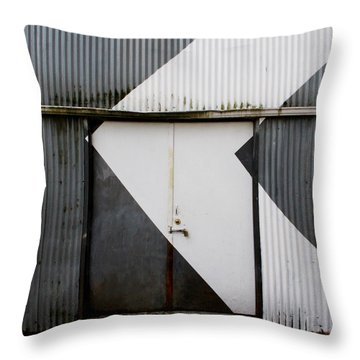 Rusty Door- Photography Throw Pillow