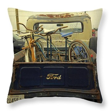 Rusty Haul Throw Pillow by Laurie Perry