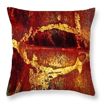 Rusty Kiss Throw Pillow by Leanna Lomanski