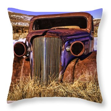 Throw Pillow featuring the painting Rusty by Muhie Kanawati