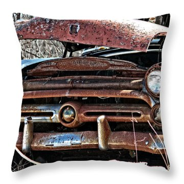 Rusty Old Car Throw Pillow