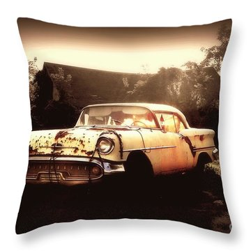 Rusty Oldsmobile Throw Pillow