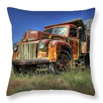 Rusty Reed Throw Pillow