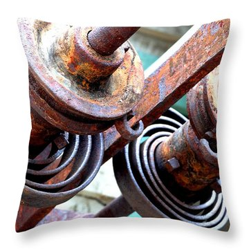 Rusty Relics Throw Pillow