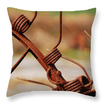 Rusty Tines Throw Pillow by Mary Carol Story