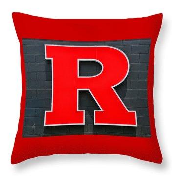 Rutgers Block R Throw Pillow