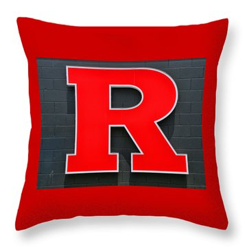 Rutgers Block R Throw Pillow