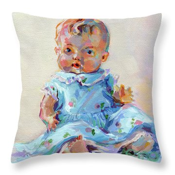 Ruthie Throw Pillow by Kimberly Santini