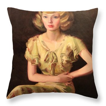 Ruth's Attitude 1929 Throw Pillow