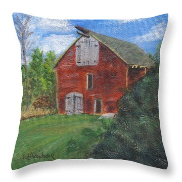 Ruth's Barn Throw Pillow