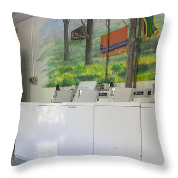 Rutledge Lake Rv Park Laundry Facilities Asheville Nc Throw Pillow