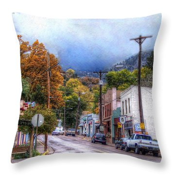 Throw Pillow featuring the photograph Ruxton Avenue by Lanita Williams