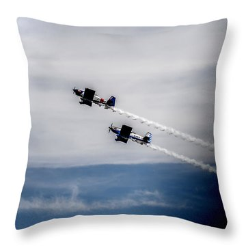 Throw Pillow featuring the photograph Rv8tors Flying High Sunderland Air Show 2014 by Scott Lyons