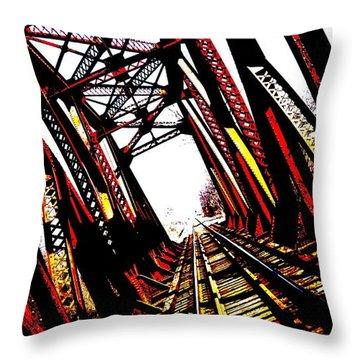 Rxr Bridge Polarized Throw Pillow