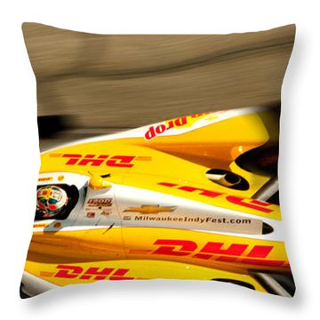 Ryan Hunter-reay Throw Pillow by Denise Dube