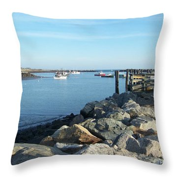 Rye Harbor  Throw Pillow