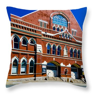 Ryman Auditorium  Throw Pillow