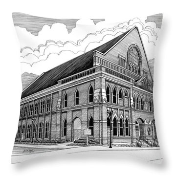 Ryman Auditorium In Nashville Tn Throw Pillow