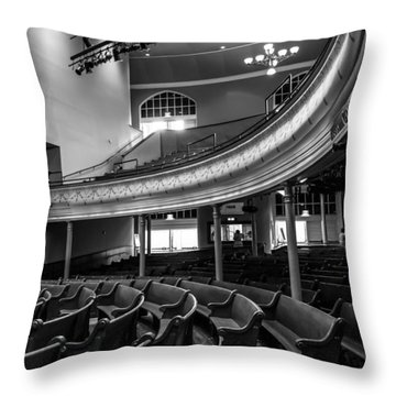 Ryman Auditorium Pews Throw Pillow
