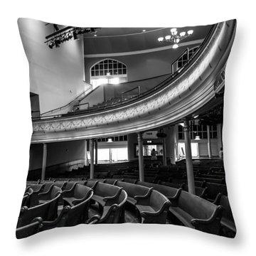 Ryman Auditorium Pews Throw Pillow