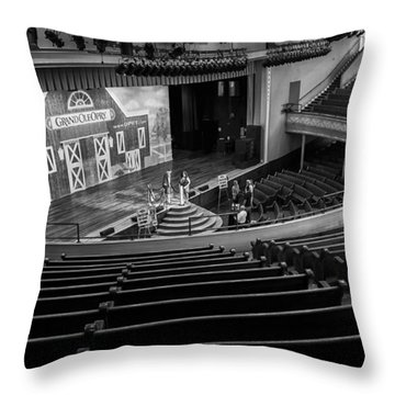 Ryman Stage Throw Pillow