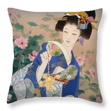 Ryo Throw Pillow by Haruyo Morita