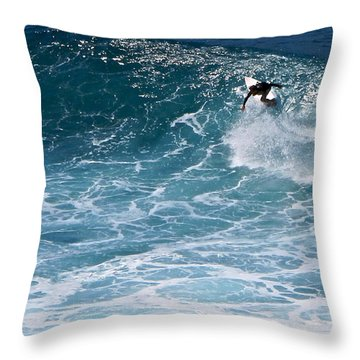 S-turns Throw Pillow