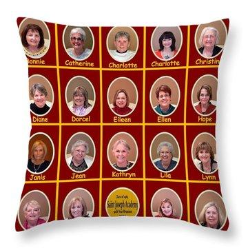S J A Group Photo Throw Pillow