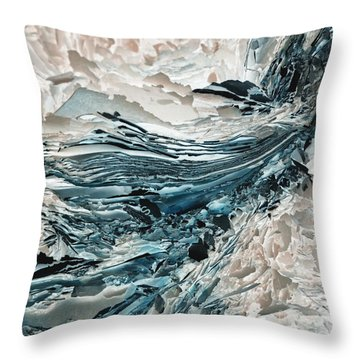 Throw Pillow featuring the photograph S by Liz  Alderdice